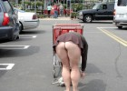 Shopping mature woman never wear panties