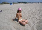 Sweet topless teen and her pink hat